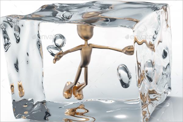 Ice Cubes Creative Poster Design