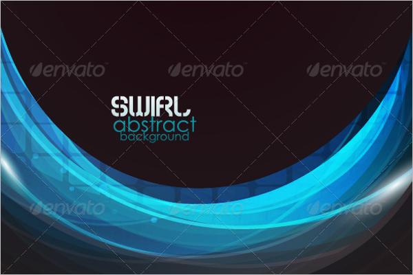 Illustration Blue Wave Vector