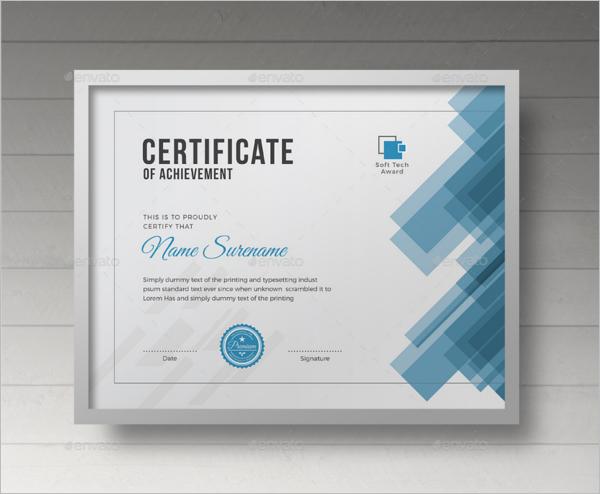 Individual Training Certificate