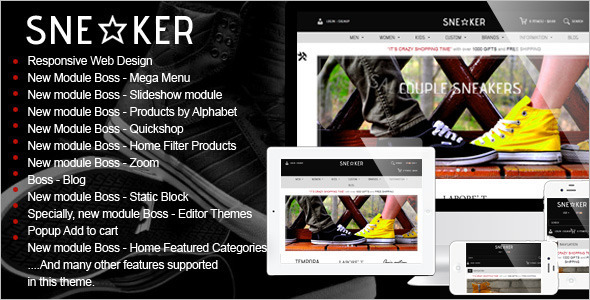 Industrial Fashion OpenCart Template