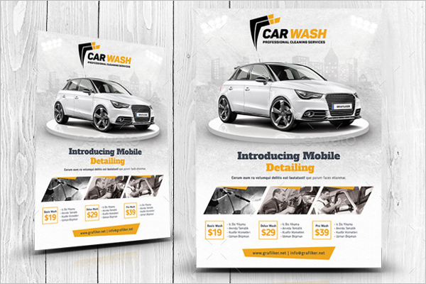 Interior & Exterior Cleaning Car Wash Flyer