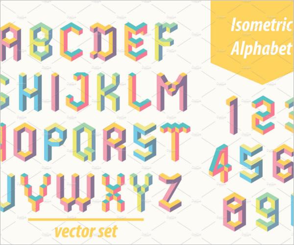 Isometric Futuristic Decorative Font