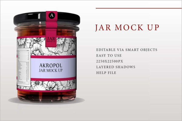 Jar Mock Up Template