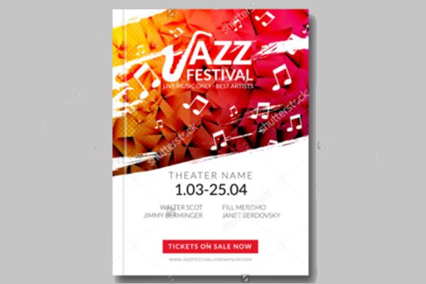 Jazz Festival Music Flyer Design