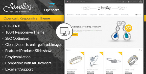 Jewellery Design OpenCart Template