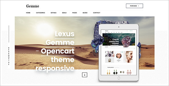Jewelry Shopping Opencart Template