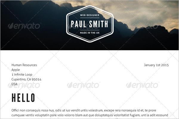 Job Resume Photoshop Logo Template