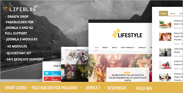 Joomla Lifestyle Blogging and Magazine