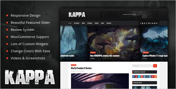 Kappa Gaming WooCommerce Theme