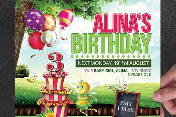 Kids Birthday Poster Template