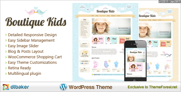Kids Boutique WooCommerce Theme