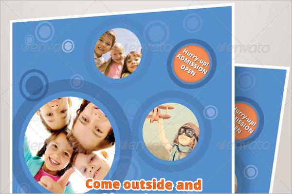Kindergarten Daycare Flyer Design