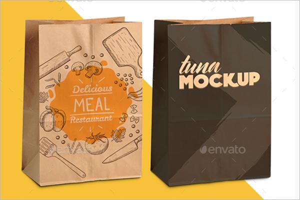 Kraft Paper Bag Mockup Template
