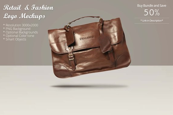 Leather bag Mockup PSD