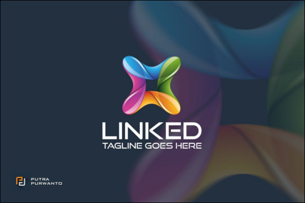Linked 3D Logo Template
