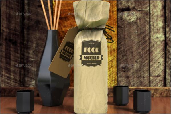 Liquor Bag Mockup Template