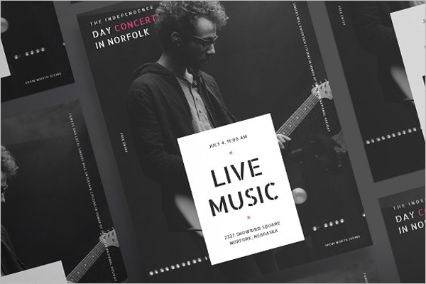 Live Music Poster Design