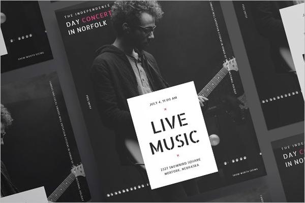 Live Music Poster Design