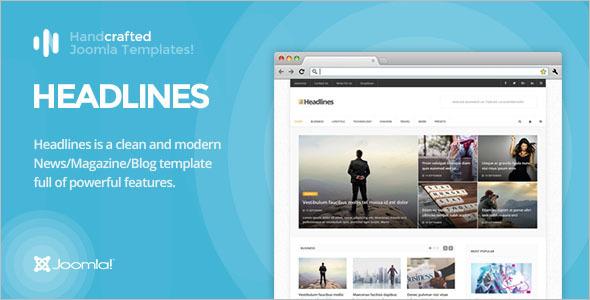 Magazine & Blog Joomla Template