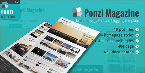 Magazine Blog & News PSD Template