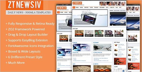 Magazine Joomla Website