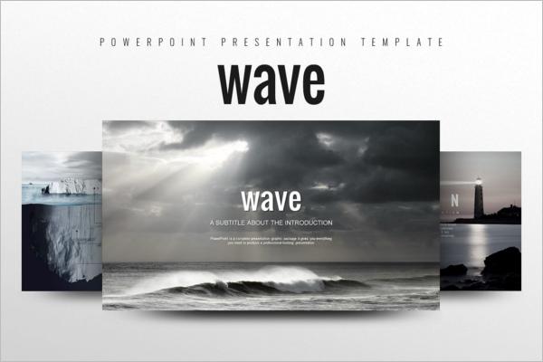 Magnificent Blue Wave Background