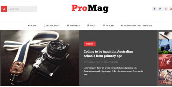 Magzine Blog Template