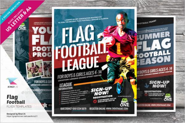 Magazine Football Flyer Design