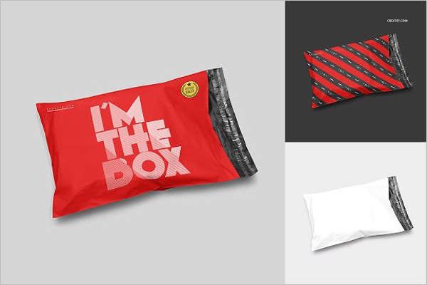 Mailing Bag Mockup Template