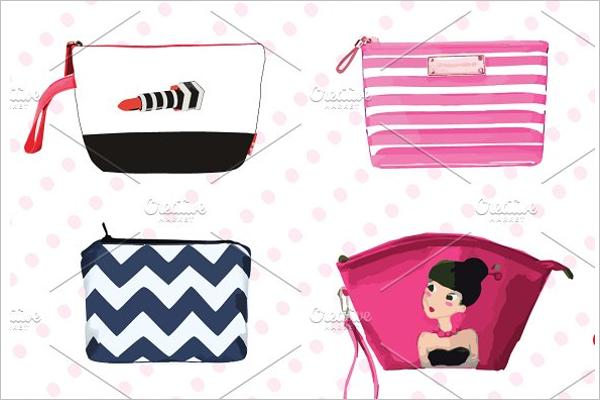 Makeup Mockup Bag Design