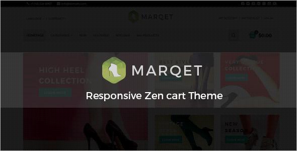 MarQet Responsive Portfolio ZenCart Theme