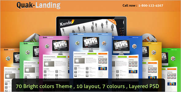 Marketing jQuery Landing Page Effect