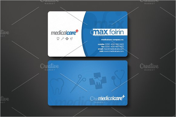 Medical Care Business Card
