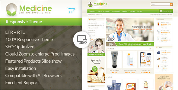 Medical Ecommerce OpenCart Template