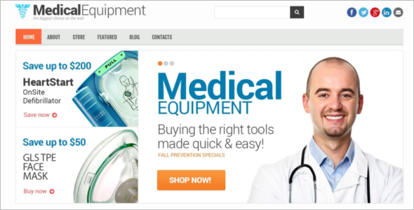 Medical Equipment WooCommerce Template