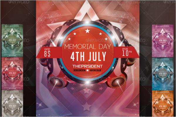 Memorial Day Psd Template