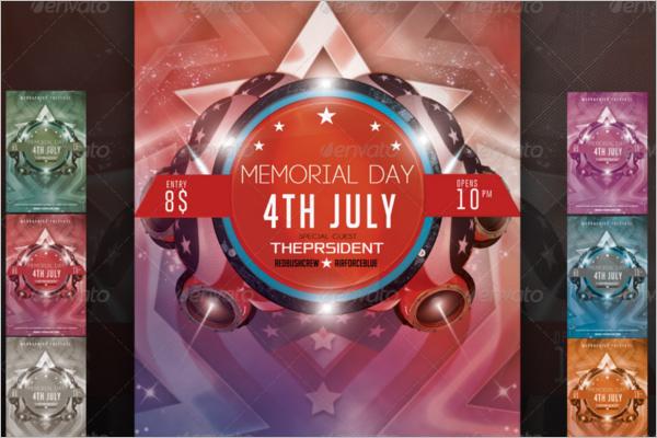 Memorial Day Psd Template
