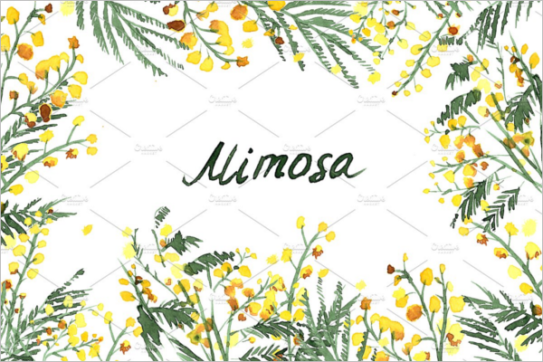 Mimosa Watercolor Pattern