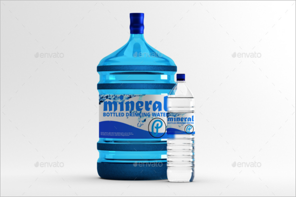 Mineral Water Mock-Up Bottle