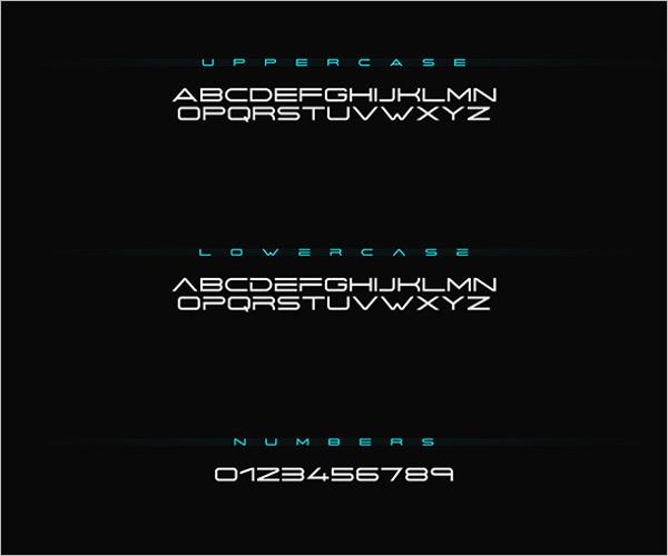 Minimal Futuristic Decorative Font