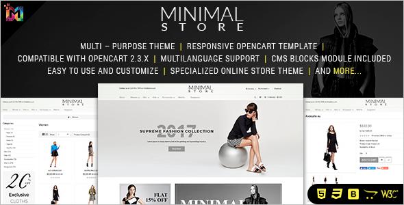Minimal OpenCart Theme