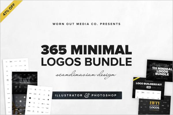 Minimal Photoshop Logo Bundle