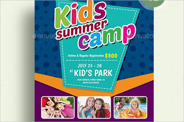 Minimal Summer Camp Flyer