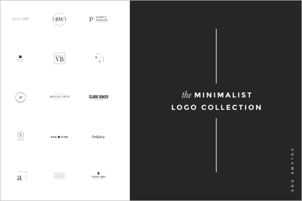 Minimalist Logo Collection Photoshop Template
