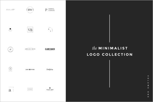 Minimalist Logo Collection Photoshop Template