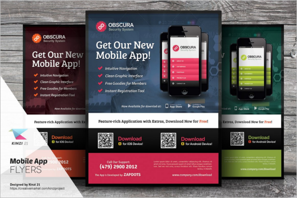 Mobile App Advertising Flyer Templates