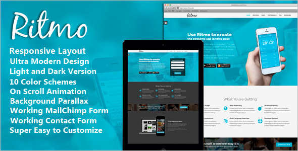 Mobile App jQuery Landing Page Effect Template
