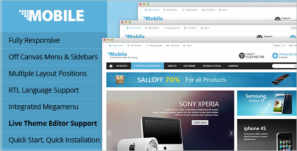 Mobile Business Opencart Theme