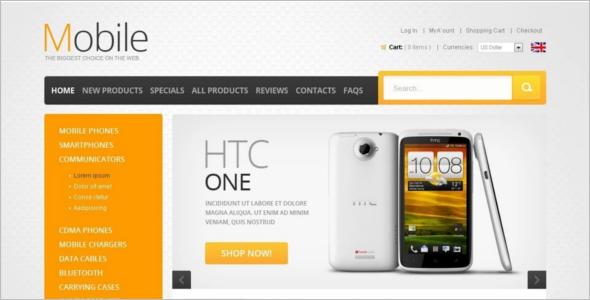 Mobile Models ZenCart Template