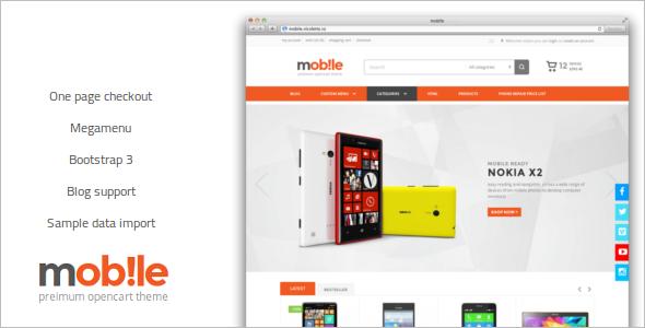 Mobile Opencart Theme